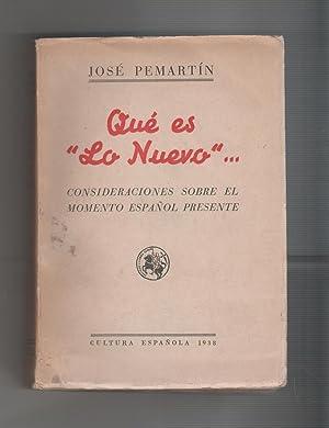 """Resultado de imagen de - PEMARTÍN, José,. Qué es """"lo nuevo…"""", S"""