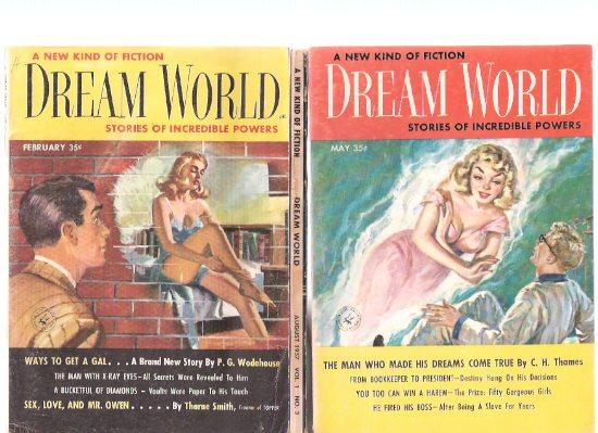Dream World: Stories of Incredible Power ---volume, !, # 1, 2 and 3 ---Three Books / Digests: ...