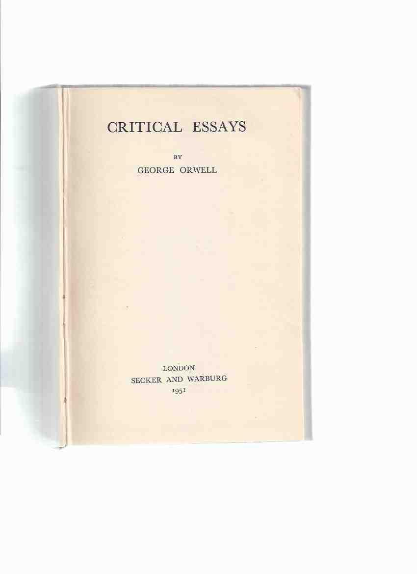charles dickens essay by george orwell Title: the social criticism of charles dickens: a point of view author: va christine mccarthy, bao (mcmaster university) george orwell describes dickens.