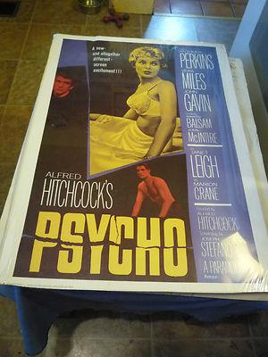 Alfred Hitchcock's PSYCHO MOVIE POSTER for the: Bloch, Robert (signed)