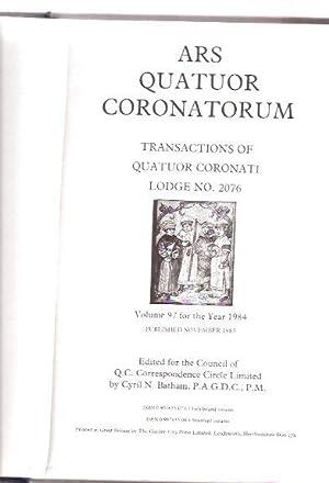 ARS Quatuor Coronatorum, Volume 97 ( XCVII: Batham, Cyril N.