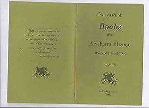 Stock List of Books from ARKHAM HOUSE/: Meng, Roderic (ed.)