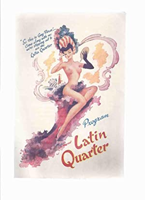 Lou Walters LATIN QUARTER Restaurant Program --- New York Theatre Restaurant 1949 - Mardi Gras De ...