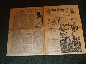 La Opinion - Buenos Aires, Argentina Newspaper 5 August 1973 ( Howard Phillips Lovecraft Las Pesa...
