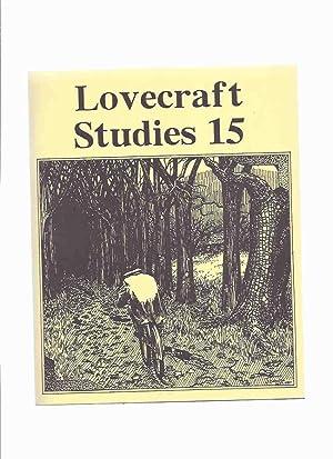 Necronomicon Press: Lovecraft Studies 15, Vol. 6: Joshi, S T