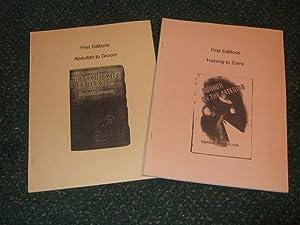 FIRST EDITIONS - Abdullah to Groom Volume: Bell, Joe /