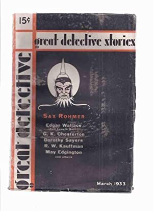 Great Detective Stories, Volume 1, # 1: Wallace, Edgar; Sax