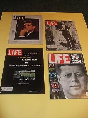Four LIFE MAGAZINES: President John F Kennedy: Life Magazines /