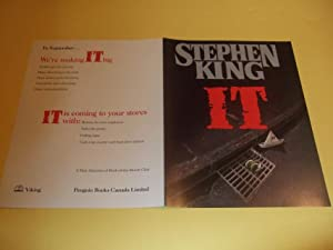 IT PROMOTIONAL ADVERTISING for The VIKING FIRST: King, Stephen (aka: