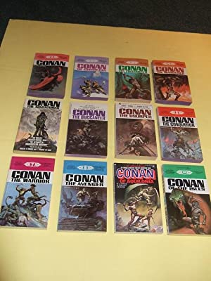 TWELVE VOLUMES: Conan; of Cimmeria; the Freebooter; The Wanderer; The Adventurer; The Buccaneer; ...