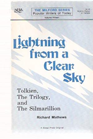 J R R Tolkien: Lightning from a: Mathews, Richard: Borgo