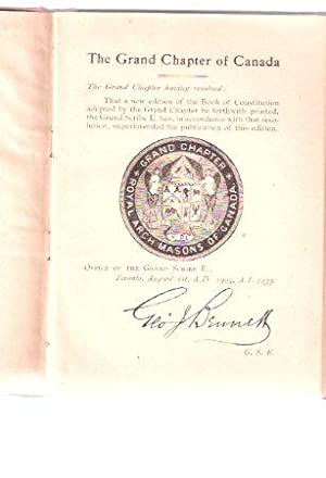 Constitution and General Regulations of the Grand: Grand Lodge of