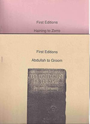FIRST EDITIONS - Abdullah to Groom Volume: Bell, Joe (