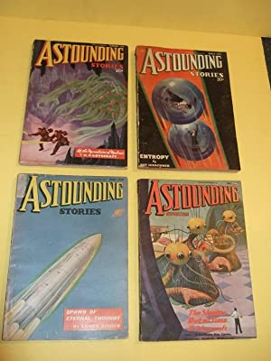 FOUR VOLUMES: Astounding Stories, February, March, April, June 1936, Volume XVI # 6, XVII, Number...