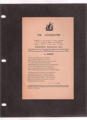 The Lovecrafter: A Sonnet ( Number XXX: Lovecraft, H. P.