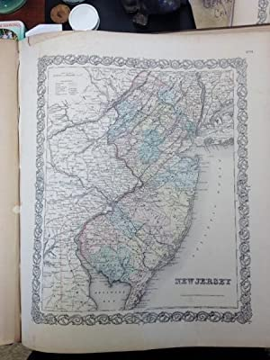 1855 Colton Map of the State of New Jersey: Colton, J. H.