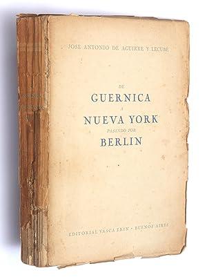 De Guernica a Nueva York pasando por Berlín: Aguirre y Lecube, José Antonio