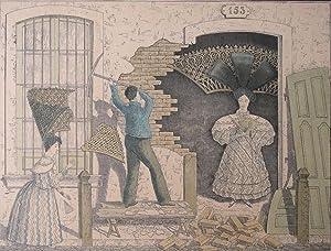 PEINETONES EN CASA: LITOGRAFIA DE BACLE SOBRE EL BUENOS AIRES DE 1834: BACLE, CESAR HIPOLITO