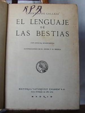 EL LENGUAJE DE LAS BESTIAS