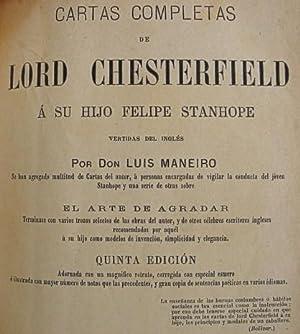lord chesterfield cartas a su hijo