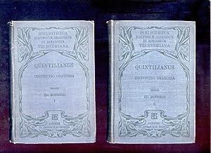 M. Fabii Quintiliani Institutionis oratoriae libri duodecim.: Quintilian; Bonnell, Eduard