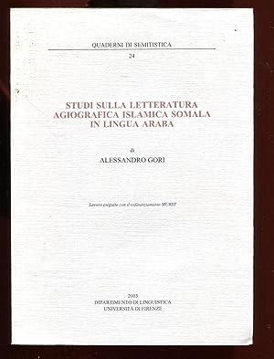 Studi sulla letteratura agiografica Islamica Somala in ligua Araba: Gori, Alessandro