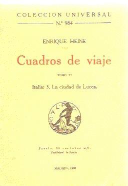 Cuadros de Viaje, tomo VI, Italia 3: Heine, Enrique