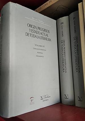 Origen, progresos y estado actual de toda: Juan Andrés (Planes,