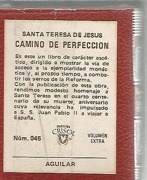 CAMINO DE PERFECCION ( Crisolín nº 45 ): SANTA TERESA DE JESÚS