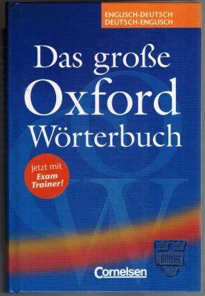 Das Große Oxford Wörterbuch Für Schule Und Beruf Englisch Deutsch
