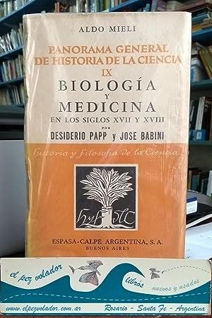 Biología y Medicina En Los Siglos XVII y XVIII: Papp Desiderio Babini Jose