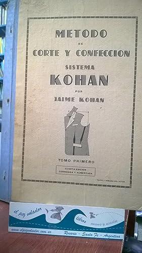 Método de corte confección Sistema Kohan: KOHAN, Jaime