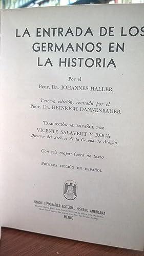 La entrada de los germanos en la Historia: Haller Dannenbauer