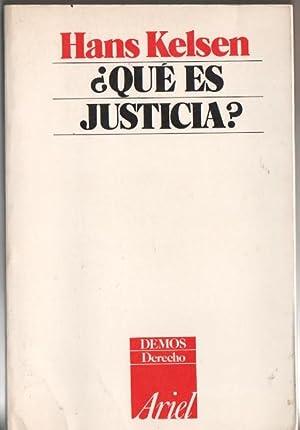 Qué Es Justicia ?: KELSEN, Hans