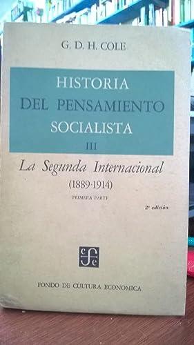Historia del pensamiento socialista III. La Segunda: Cole G.D.H.
