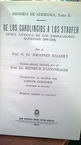 De los carolingios a los Staufer: Haller Dannenbauer