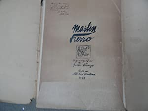 Martin Fierro. 24 Zincografias De Julio Vanzo: VANZO, Julio