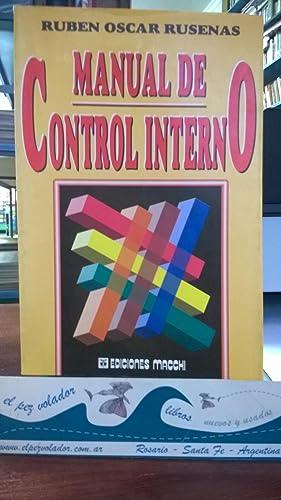 Manual de control Interno: Rusenas Rubén Oscar