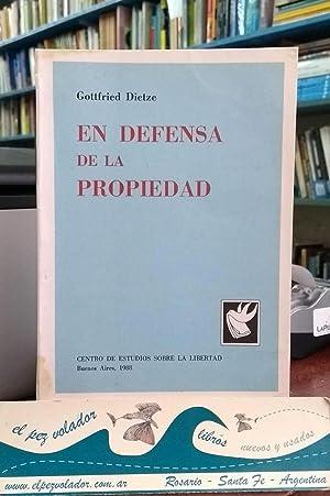 En defensa de la Propiedad: Dietze Gottfried