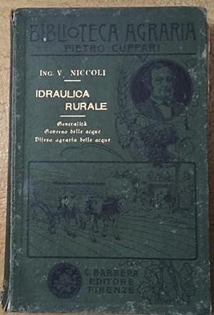 Idraulica rurale: NICCOLI, V.