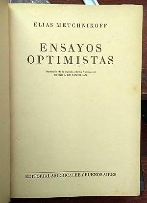 Ensayos Optimistas: Metchnikoff Elias