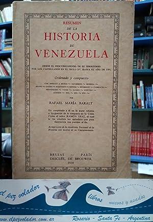 Resumen de la Historia de Venezuela: Baralt Rafael María