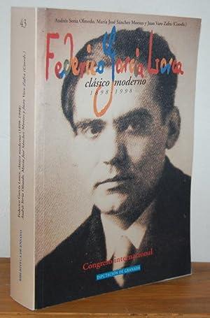FEDERICO GARCÍA LORCA clásico moderno. 1898-1998, Congreso: ANDRÉS SORIA OLMEDO,
