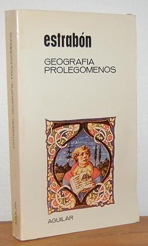 GEOGRAFÍA. PROLEGÓMENOS: ESTRABÓN