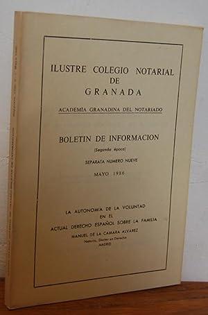 Boletín de Información de la Academia Granadina: MANUEL DE LA