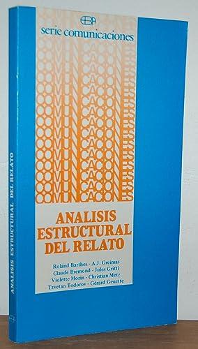 ANÁLISIS ESTRUCTURAL DEL RELATO: ROLAND BARTHES, A.J.