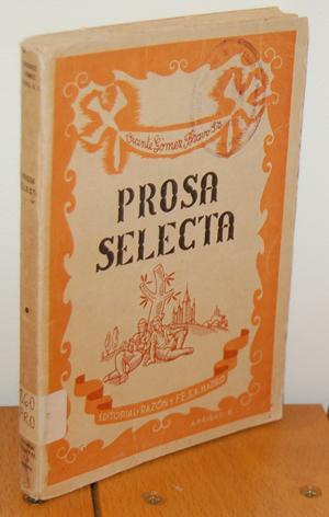PROSA SELECTA de autores españoles para lectura: VICENTE GÓMEZ-BRAVO