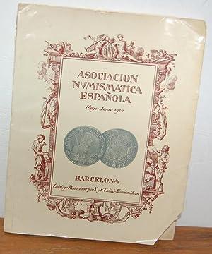 ASOCIACIÓN NUMISMÁTICA ESPAÑOLA. Catálogo Subasta Social Mayo-Junio: X. y F.