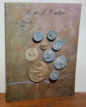 CATÁLOGO DE SUBASTA NUMISMÁTICA, 21, 22 Diciembre,: X. y F.