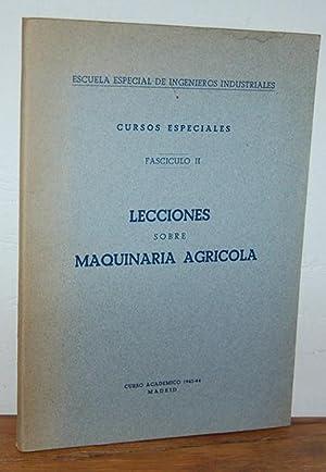 Cursos Especiales. Fascículo II. LECCIONES SOBRE MAQUINARIA: JOSÉ MARÍA HERRERO
